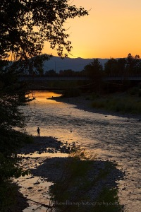 Sunset on the Clark Fork, Mike Williams Photography